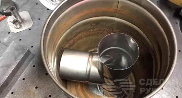 Самодельная печь из старого ведра из-под краски