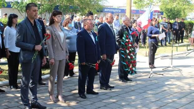 В посёлке Ленино почтили память жертв депортации народов из Крыма
