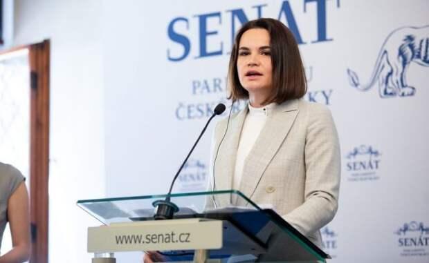 Сенат Чехии чествовал Тихановскую как президента Белоруссии