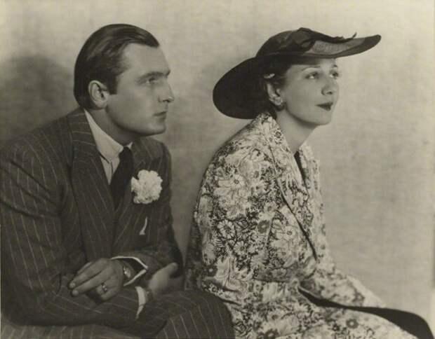 Денис Конан Дойл с женой Ниной Мдивани. 1936 г