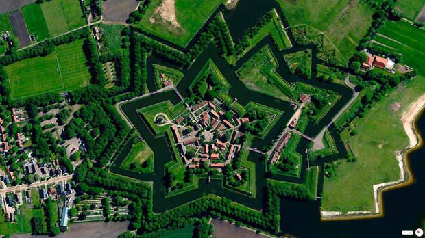 11. Bourtange, Влагтведде, Нидерланды фото со спутника, фотограф Бенджамин Грант, фотографии
