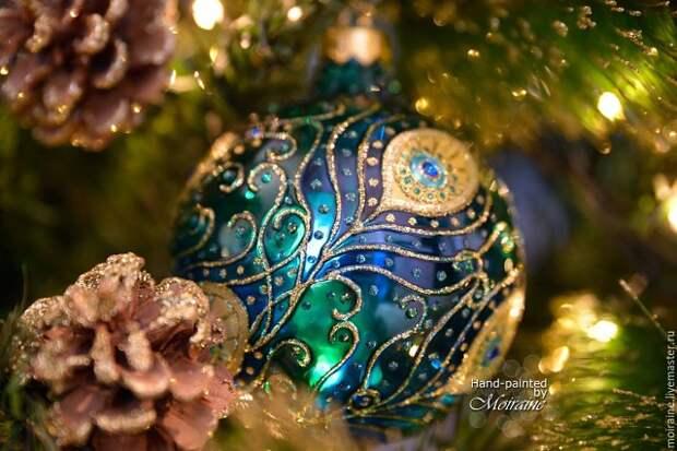 Чудесные ёлочные шары с витражной росписью от Moiraine
