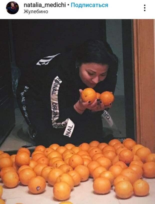 Фото дня: мандариновый магический ритуал в Жулебине