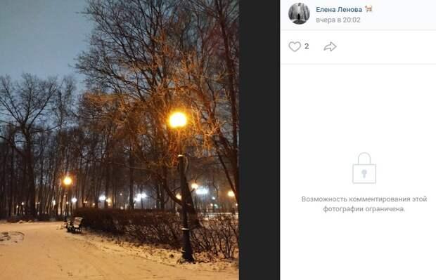 Фото дня: прогулка по заснеженному Петровскому парку