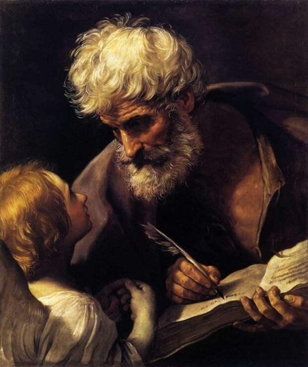 Гвидо Рени. Апостол Матфей и ангел, 1635-1640. Ватиканская пинакотека, Рим