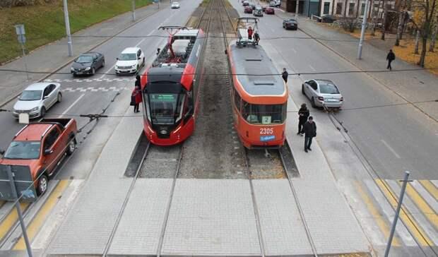 Остановку трамваев и переход возле ЦУМа в Ижевске перенесли на прежнее место