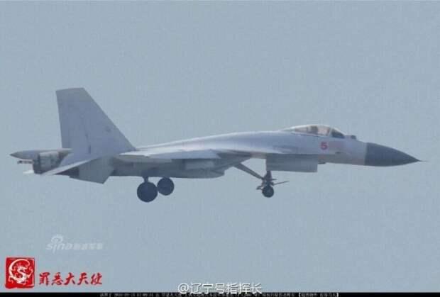 Китай обогнал Россию и разработал палубный истребитель J-15 катапультного старта