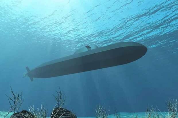 Рендер проектного изображения перспективной неатомной подводной лодки проекта 212CD для ВМС Норвегии и Германии (с) TKMS