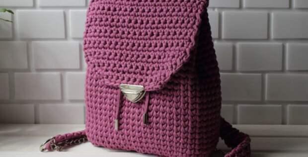 Как связать модный рюкзачок крючком – подробная инструкция