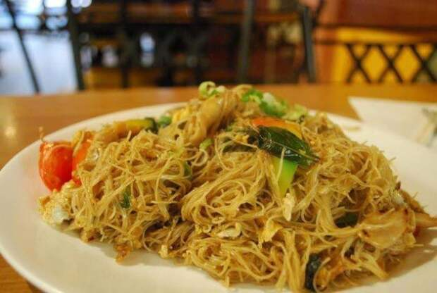 Фальшивая рисовая лапша еда, китай