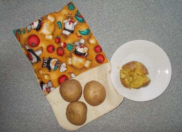 Хит вашей кухни. Готовить картошку за 4-6 минут? Сшейте мешок для микроволновки