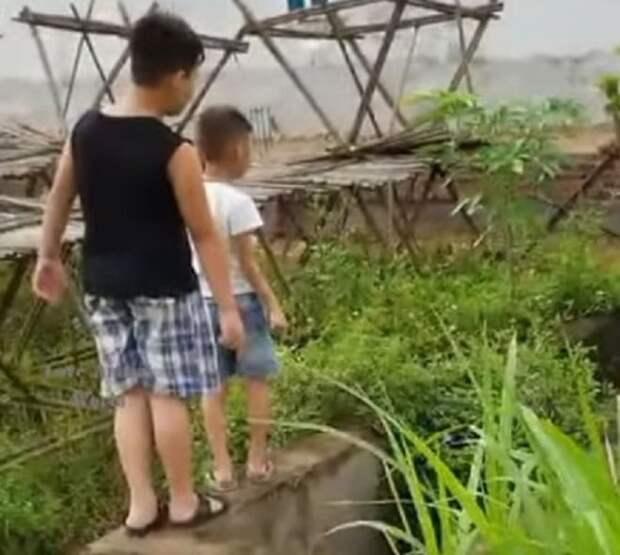 Дети стоят