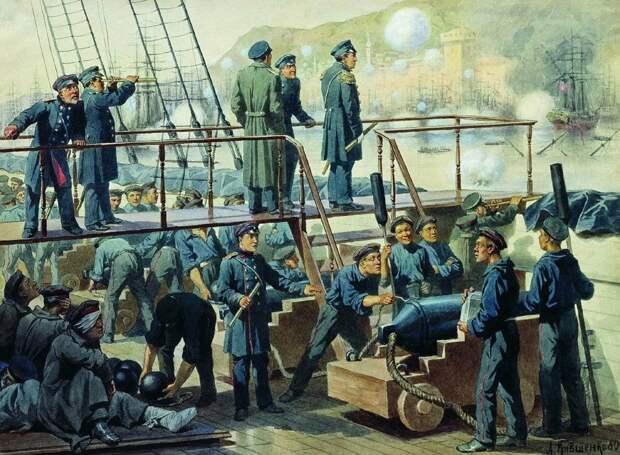 Как на русском флоте спасали оружие от ржавления