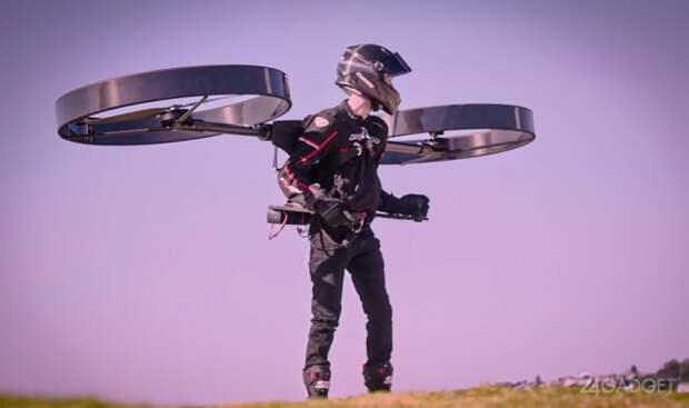 Рюкзак-вертолет CopterPack совершил первый полет
