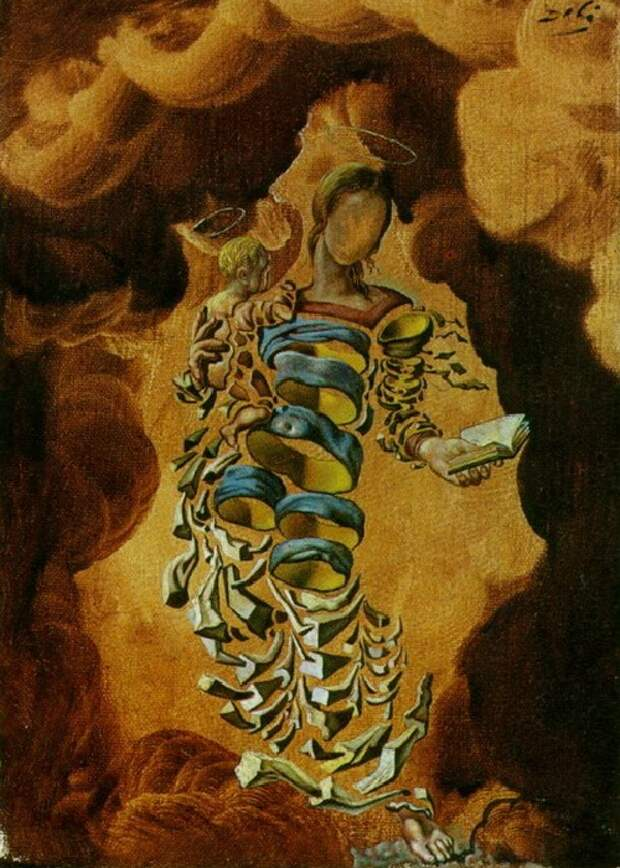Мадонна в частицах. (1952). Автор: Сальвадор Дали.