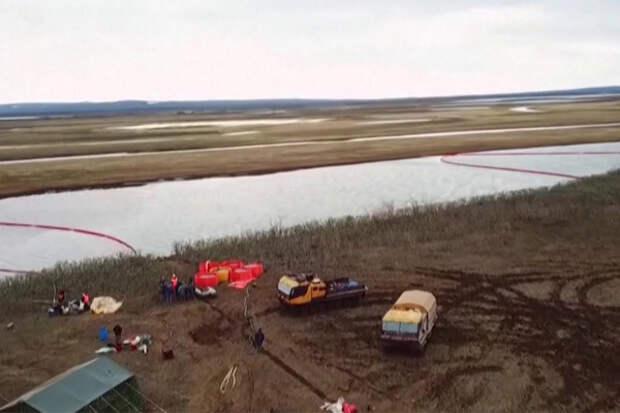 Норильск, разлив нефти