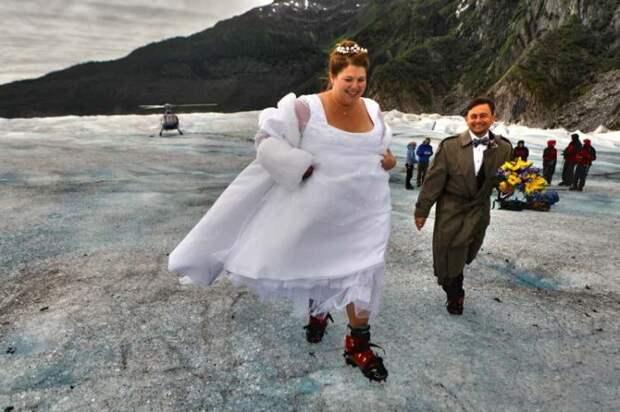 Свадьба не леднике.