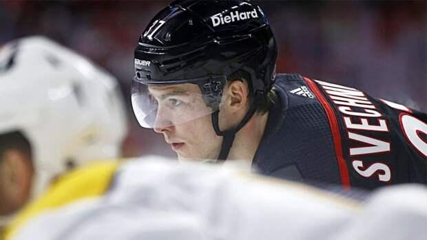 Русского хоккеиста провоцировали на драку в Америке. Свечников сдержался и отдал шикарный голевой пас!