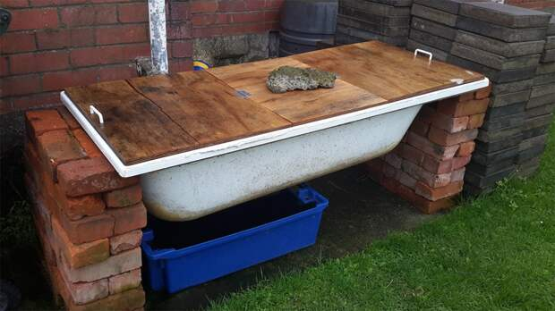 Необычные и полезные идеи для дачи из старой чугунной ванны