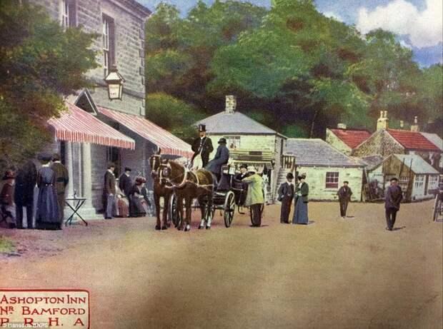 Ашоптон в 1900-х. Почтовая открытка. в мире, водохранилище, деревня, затопление, исторические фото, история, редкие кадры, фото