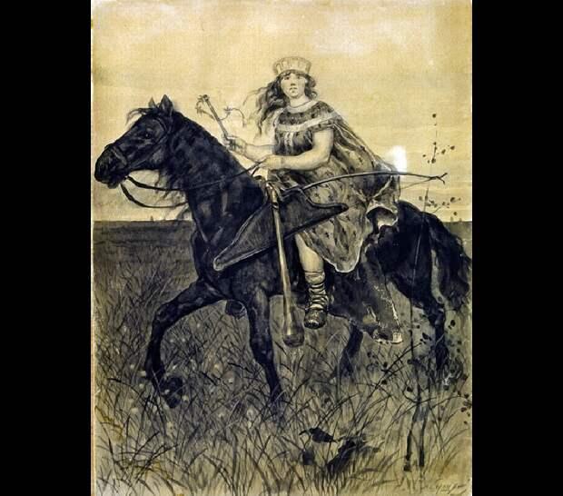 Всадница. Поленица удалая. Фото © Wikipedia