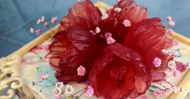 Цветы из мармелада своими руками сделают любой десерт настоящим произведением искусства
