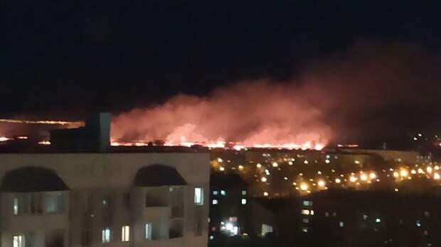 Изтюменского микрорайона Антипино жители видят крупный пожар