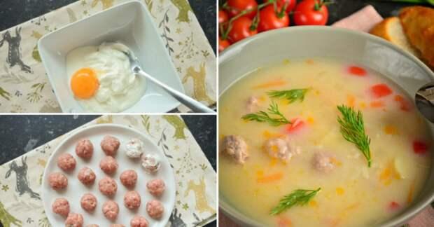 Болгарский суп с фрикадельками «Чорба-топчета»