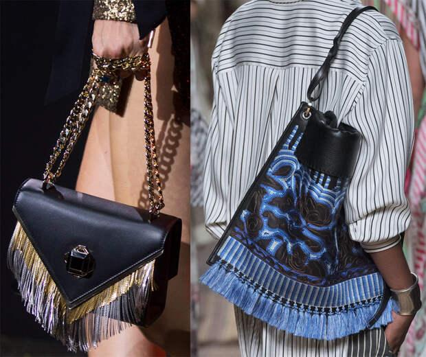 Кожаные и замшевые сумки с бахромой 2017
