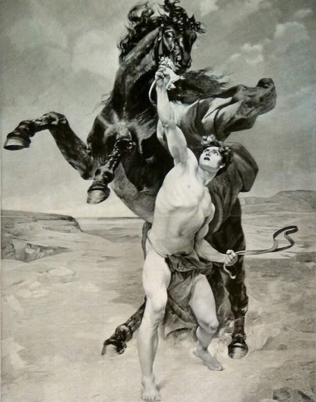 Любимый конь Буцефал.