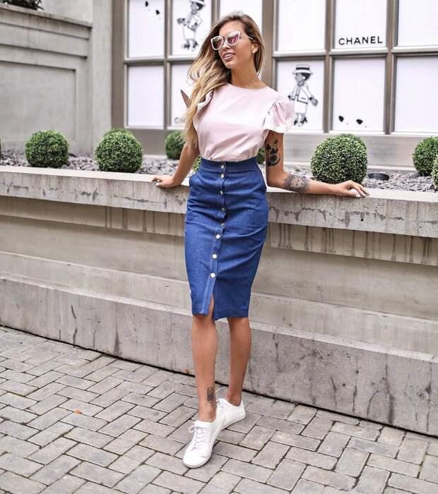 С чем носить юбку летом фото 1