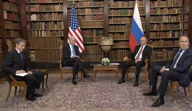Встреча в Женеве пошла не по сценарию США: О чем говорят позы Байдена и Блинкена