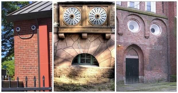 Дом с глазами и непростым характером: 20 оживших зданий парейдолия, сходство