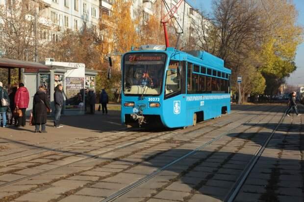 Два трамвая, курсирующих через Строгино, задерживаются по техническим причинам