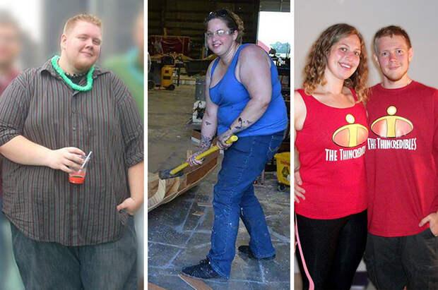 Потеря 150 кило на двоих - впечатляющий результат! диета, лишний вес, похудение