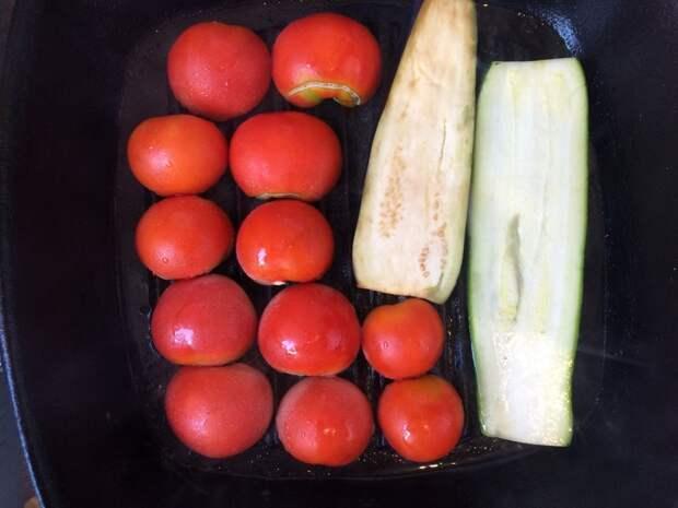 Куриное филе с овощами-гриль