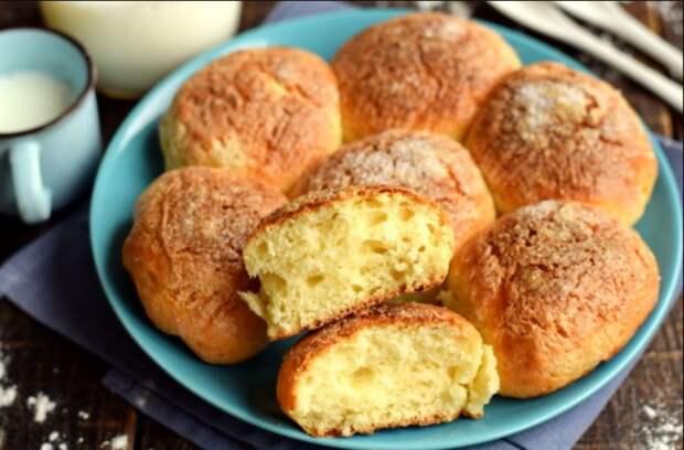Творожные булочки «Пуховые» – осталась от них в восторге (без дрожжей, без долгого замеса, выпекаются за 20 минут)