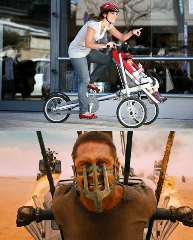 Хорошо придумала! WTF?, wtf, велосипеды, необычное, подборка, странное, транспорт