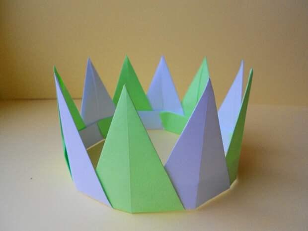 Оригами корона. Модульное оригами - схема сборки