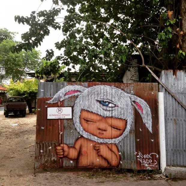 Alex Face – тайское лицо стрит-арта