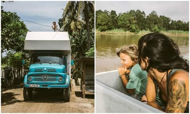 Семья продала все и отправилась в путешествие на старом грузовике