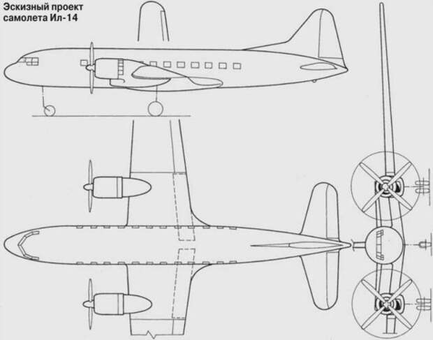 История создания Ил 14 — первого отечественного пассажирского регионального авиалайнера