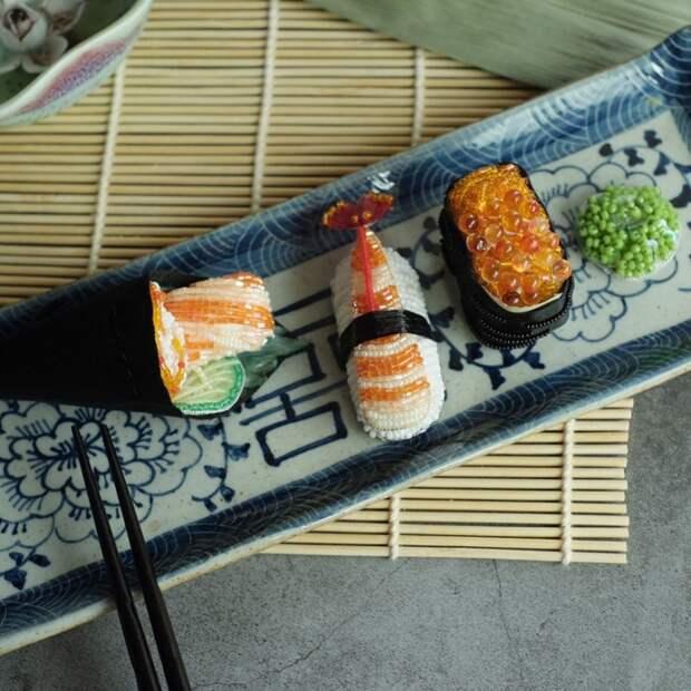 Броши суши (подборка)