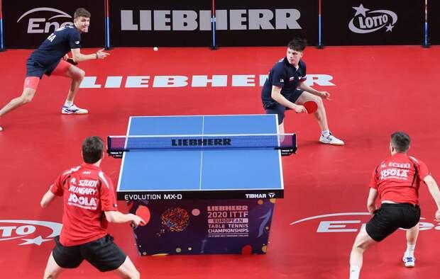 Россияне одержали историческую победу на ЧЕ-2021 по настольному теннису