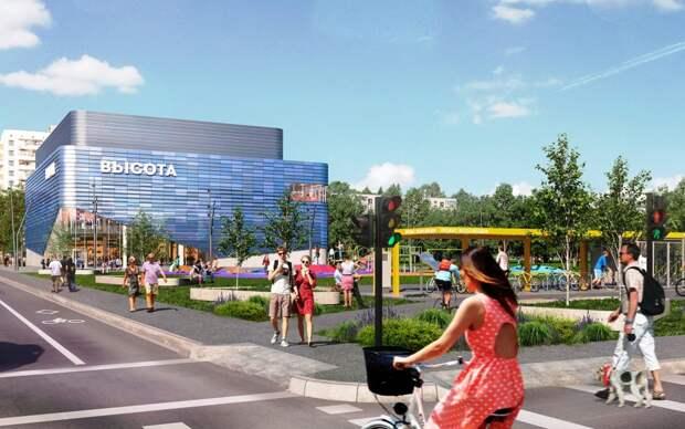 Кинотеатр «Высота» находится в районе Кузьминки/проектное решение/stroi.mos.ru