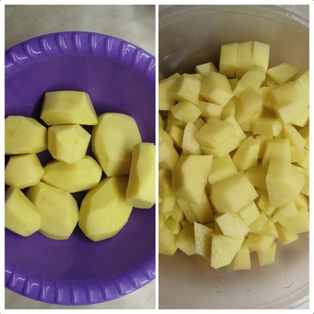 Тушёная картошечка в сливочном соусе!