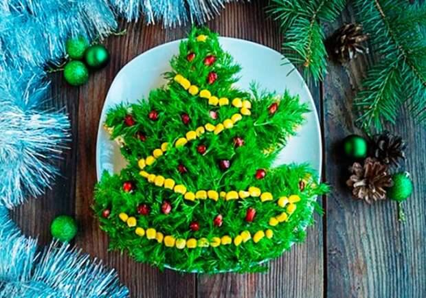 Украшение салатов на Новый 2021 год: как украсить, самые лучшие идеи17