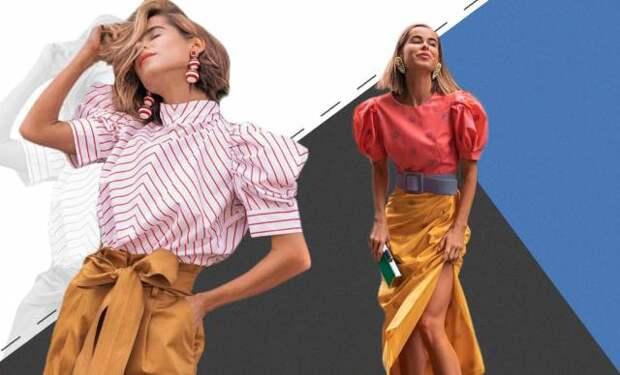 две девушки в блузках и юбках