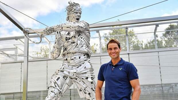 На территории «Ролан Гаррос» установили статую в честь Рафаэля Надаля