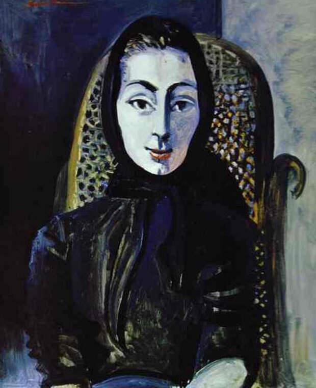 Картина Пабло Пикассо. Жаклин Рок . 1954 г